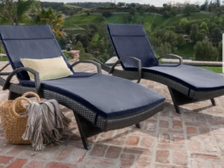Vilano Outdoor Cushioned lounge Chair Cushion  Set of 2  by Havenside Home Retail 622 49