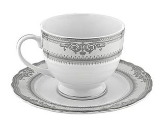 Vanessa Platinum Cup and Saucers  Set of 6