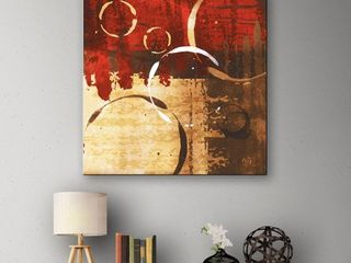 ArtWall Jennifer Pugh s Grunged Red Revolution II  Gallery Wrapped Canvas