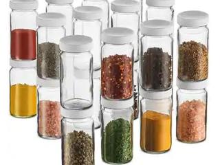 Small Glass Mason Jars 4 Ounce Mini Jars Full Width Mouth  Plastic Airtight lid  For Crafts Food Storage Wedding favors