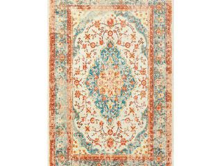 Mohawk Prismatic Area Rug Z0030 A261 Whitecaps   Ivory Shaded Scrolls 60in x 96in