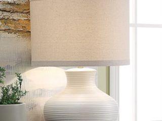 Nala 26  Khaki   White Table lamp