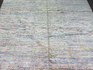 ECARPETGAllERY Hand knotted Finest Ushak Ivory  Pink Silk  Wool Rug   8 1 x 10 1 Retail 1608 99
