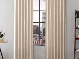 Scott living Renato linen Blend Semi Sheer Back Tab Curtain Panel Set of 2