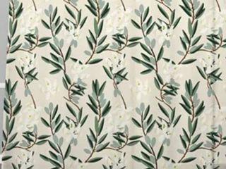 Holli Zollinger Olive Bloom Blackout Curtain Panel  Set of 2