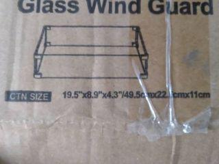 Glass Wind Guard 19 5 x9 8 x4 3