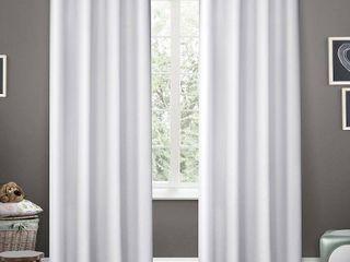 ATI Home Sateen Room Darkening Kids Grommet Top Window Curtain Panel Pair