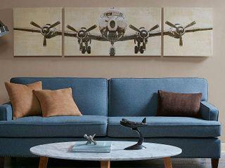 Intelligent Design Flight Time Grey Gel Coat Canvas 3 Piece Set  Retail 78 98
