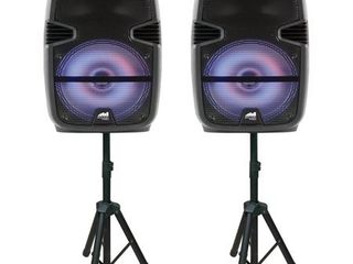 Dual 12  Bluetooth True Wireless Sync Party Speakers 2