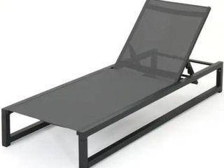 Modesta Outdoor Aluminum Mesh Chaise lounge by Christopher Knight Home