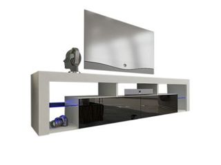 Milano 200 Wall Mounted Floating 79  TV Stand with 16 Color lEDs