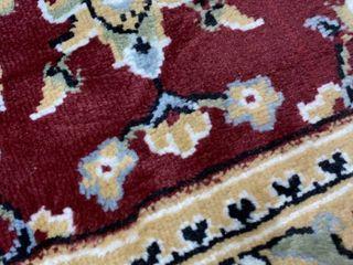 Copper Grove Savonlinna Crimson and Beige Bordered Persian Area Rug 93  x 124  Retail 111 99