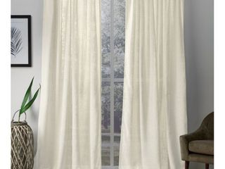Exclusive Home Curtains Bella Sheer Hidden Tab Top Curtain Panels  54 x96  Ivory  Set of 2