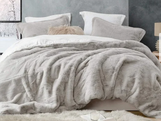 Super Soft Coma Inducer Oversized Stone Taupe Comforter   Retail 227 49