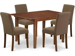 Parson Chairs in Coffee linen Set of 2 Table NOT Included