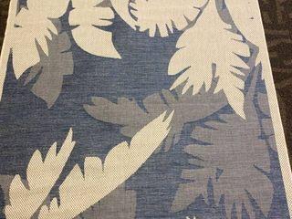 Samantha Tropics Beige Sapphire Indoor Outdoor Area Rug   5 10  x 9 2  Retail 129 99