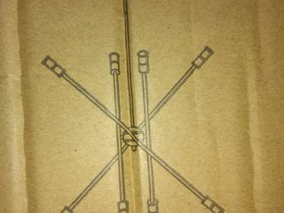 Mid Century Modern Sputnik Matte Black Chandelier   Retail 142 99