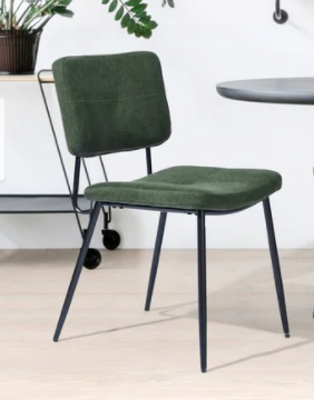 Carson Carrington Idon Padded Fabric Dinner Chair Green Set Of 2