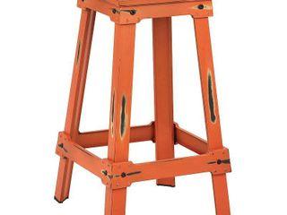 OSP Designs Castle Metal Barstool Antique Orange finish