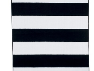 Windsor Home Breton Black and White Stripe Area Rug  8  x 10  Retail 347 99