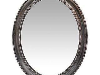 30  Decorative Oval Wall Mirror Gray   Infinity Instruments