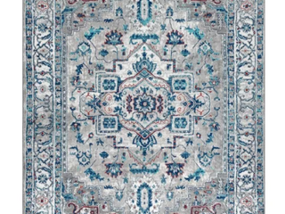 JONATHAN Y Modern Persian Vintage Medallion light Grey light Pink Distressed Area Rug 8x10 Retail 151 99