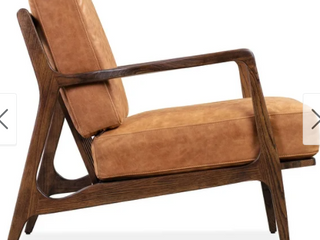 Poly And Bark Verity leather lounge Chair Brown