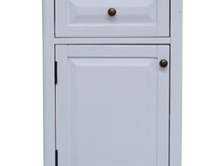 Porch   Den Everest Bathroom Storage Tower with Open Upper Shelves  lower Cabinet and Drawer  Retail 326 99