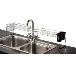 Home Basics Chrome Plated Steel Over The Sink Shelf