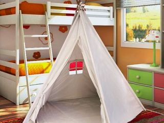5 Pole 6 Foot Tall Kids Classic Indian Play Tee Pee Tent