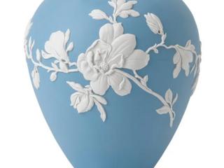 Wedgwood Jasperware Blue 7 inch Magnolia Blossom Vase