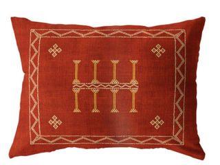 Amulet Kilim Rust lumbar Pillow by Kavka Designs
