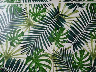 Vinyl Floor Mat Tropical leaf Pattern   2  x 5    2  x 5
