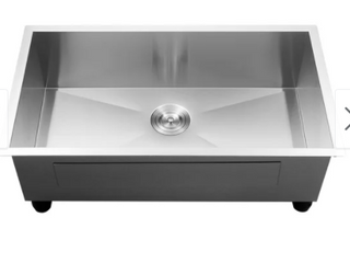 logmey Handmade 30 Inch Undermount Single Bowl Stainless Steel Sink