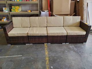 Outdoor Wicker Patio Couch