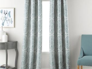 Nanshing Viona Window Curtain Panels Set of 2 with Grommet  Mineral Blue  37 x 84