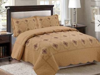 Porch   Den Heceta Embroidered 3 piece Bed Coverlet Set