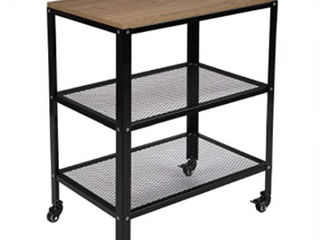 3 Tier Kitchen Microwave Cart  Rolling Kitchen Utility Cart  Standing Bakers Rack Storage Cart with Metal Frame