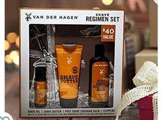 Van Der Hagen Men s Regimen Set  4 Piece luxury Shave Set