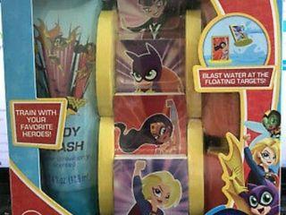 Dc Comics Super Hero Girls Water Bath Blaster   4 Foam Targets   Body Wash