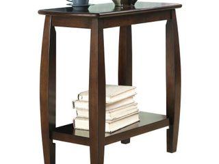 Coaster Chairside Table Walnut