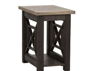Heatherbrook Charcoal and Ash Chair Side Table  Retail 216 99