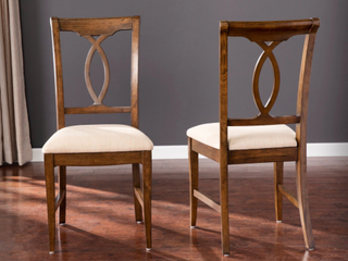 Gracewood Hollow Alcoven Brown Wood Dining Chair Set  Set of 2  Retail 200 00