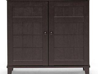 Baxton Studio Glidden Dark Brown Wood Multi use Cabinet  Retail 101 98