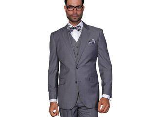 Statement Suits Men s Wool Solid Color 3 piece Suit