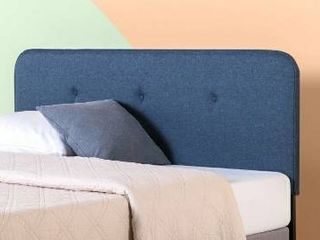 Priage by ZINUS Navy Button Tufted Upholstered Headboard   Full