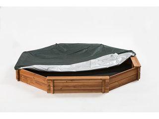 Creative Cedar Designs Octagon Wooden Sandbox 6 5  x 6 5