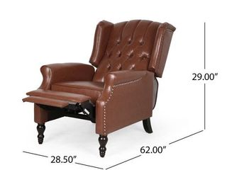 Walter Contemporary Tufted Bonded leather Recliner
