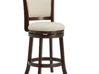 Dark Cherry Finish Beige linen Swivel Chair by iNSPIRE Q Classic   Beige linen  Counter Height