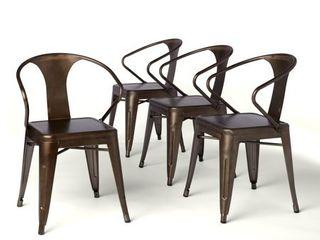 Carbon loft Vintage Carbon loft Stacking Chairs  Set of 4  Retail 109 99